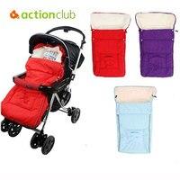 Actionclub 1 pc Quente Envelope para o Bebê Recém-nascido Infantil Pushchair Stroller Saco de Lã saco de Dormir Saco Térmico Casulo para Recém-nascidos
