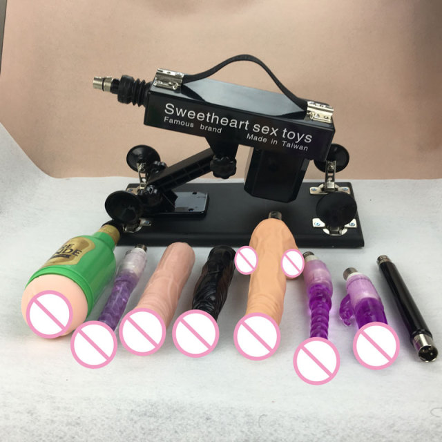 Automatic Adjustable Speed Sex Machine Gun With 6 Dildo For Women Female Masturbation -6540