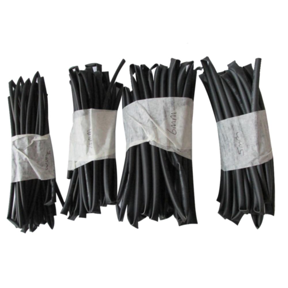 1.5mm 2mm 3mm 4mm 5mm HEAT SHRINK TUBING Wire Wrap Assortment black 6FT each