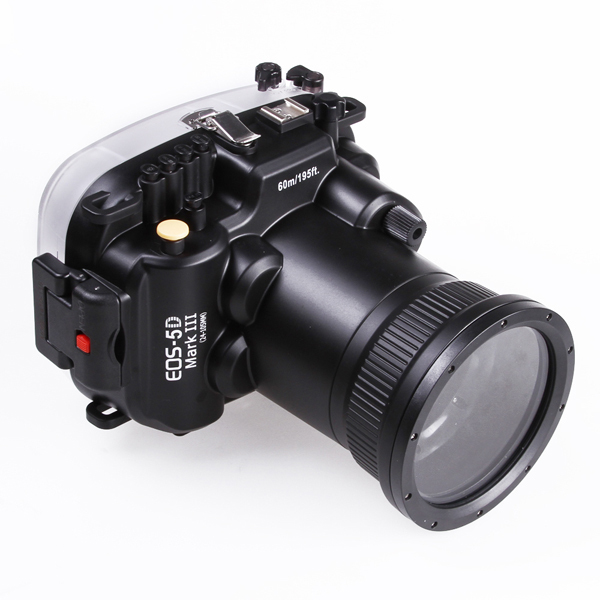 Pro 60m/195ft Underwater Diving Waterproof Case Housing for Canon EOS 5D Mark III