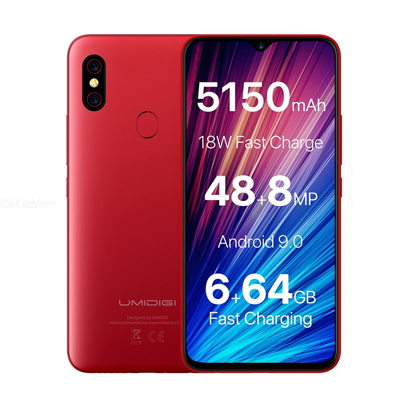 """Image 4 - UMIDIGI F1 Play 48MP+8MP+16MP 5150mAh Mobile phone Android 9.0 6GB RAM 64GB ROM 6.3"""" FHD Global Version Smartphone Dual 4G-in Cellphones from Cellphones & Telecommunications"""