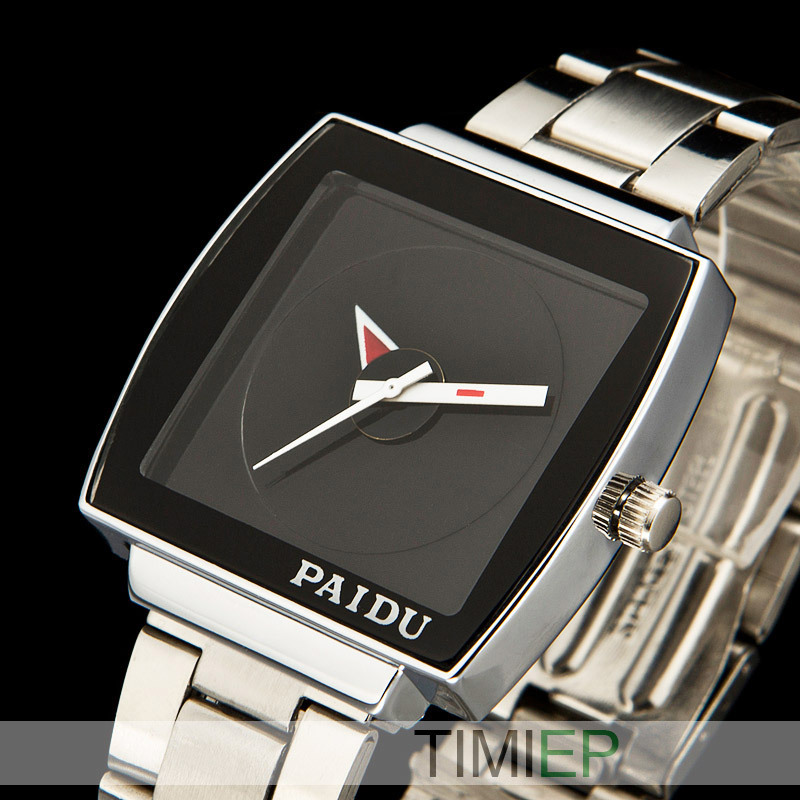 New Black Stainless Steel Quartz Wristwatch Men s Watch fashion style