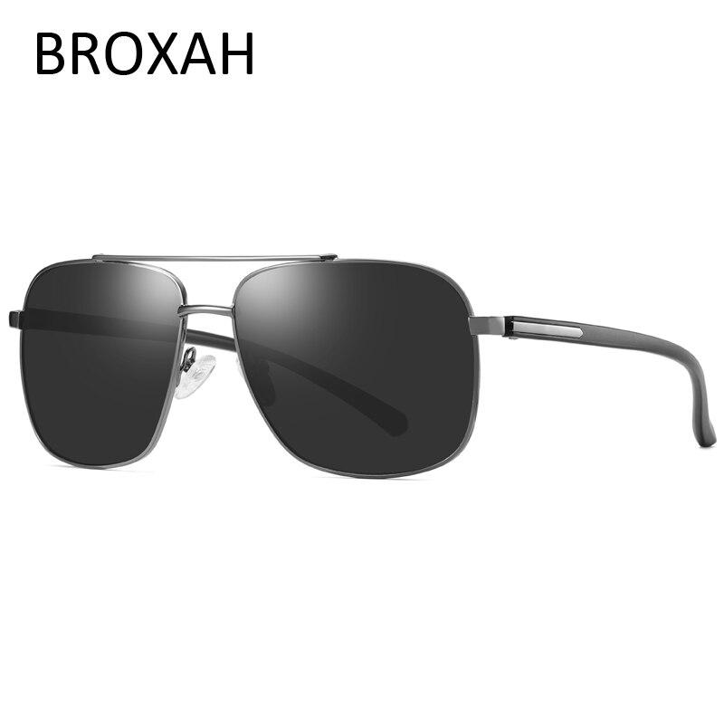 Retro Mens Night Vision Glasses Pilot Polarized Sunglasses Men 2019 Square Metal Driving Sun Glasses Lunette De Soleil Homme in Men 39 s Sunglasses from Apparel Accessories