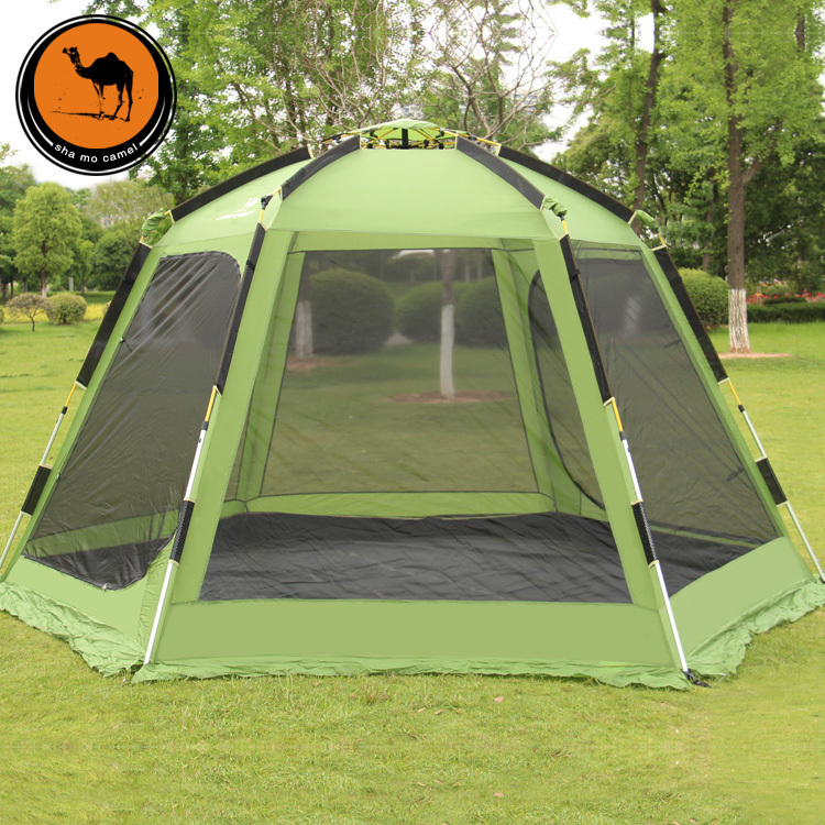 New style high quality double layer 6-8person automatic camping tent with snow skirt otomatik çadır