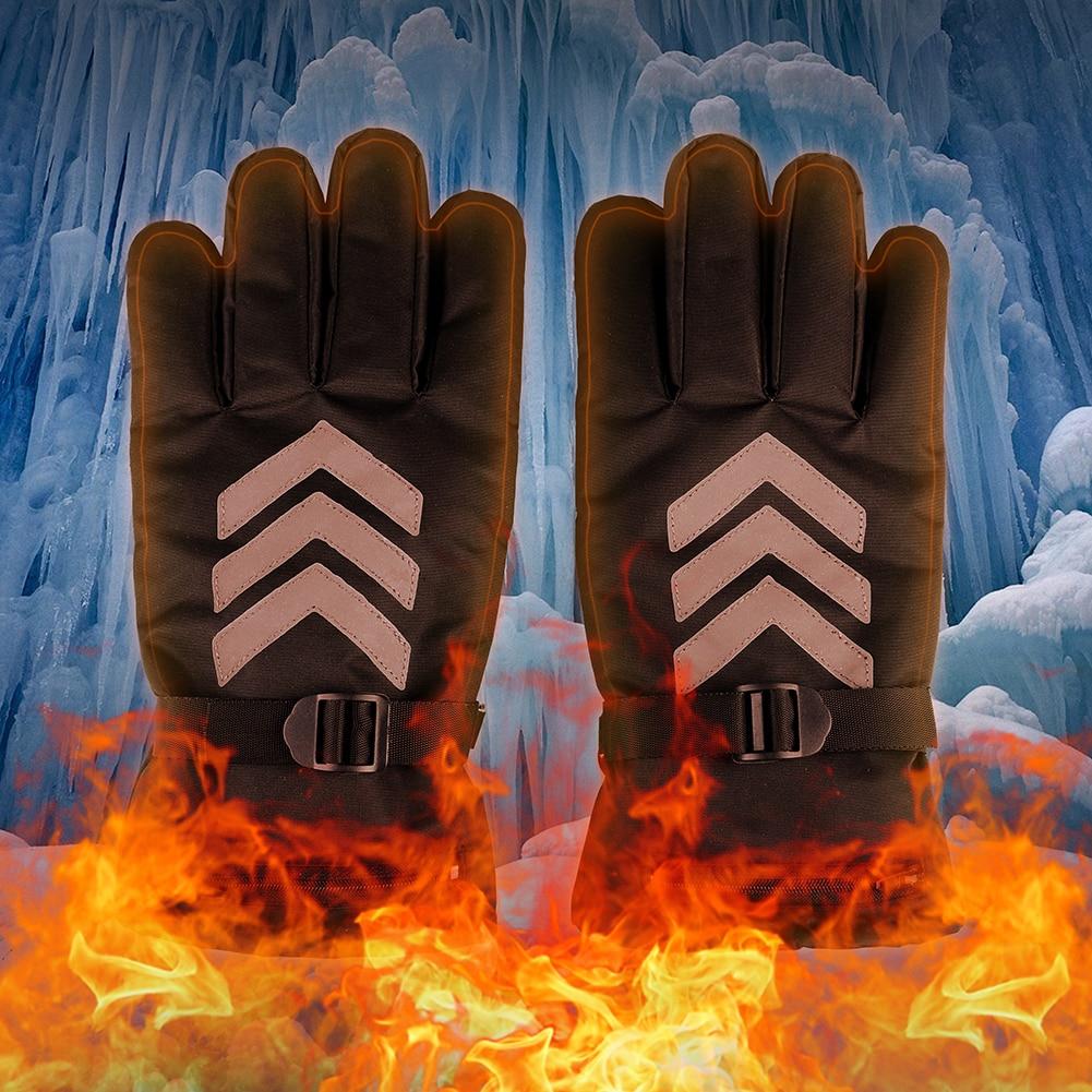 Touch Screen <font><b>Battery</b></font> Electric Rechargable <font><b>Heated</b></font> <font><b>Gloves</b></font> US Plug Ski Motorcycle Hand Warmer Heater