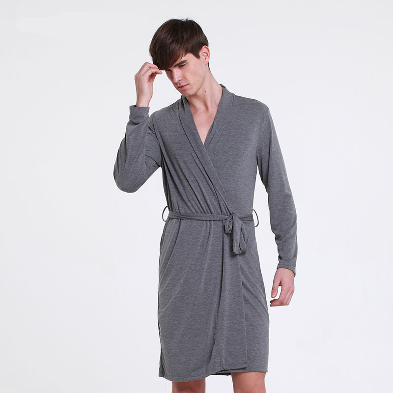 New Plus Size Men Or Women Casual Breathable Modal Bath Robes Lounge Homewear Sleepwear Set Men's Bathrobe Sets M18301
