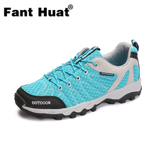 Outdoor Trekking Shoes for Women Men Professional Breathable Anti-skid Sport Shoes Couple Plus Size Hiking Climbing Shoes