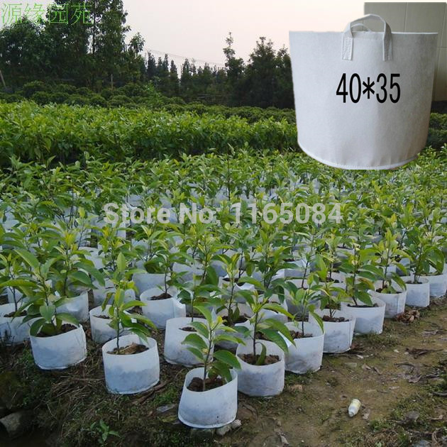 Free Shipping Non woven Planting Bag Home Gardening Vegetable Grow Bags  trees Flower Pots   Planters 40 35cm. Tree Planter Pot Promotion Shop for Promotional Tree Planter Pot