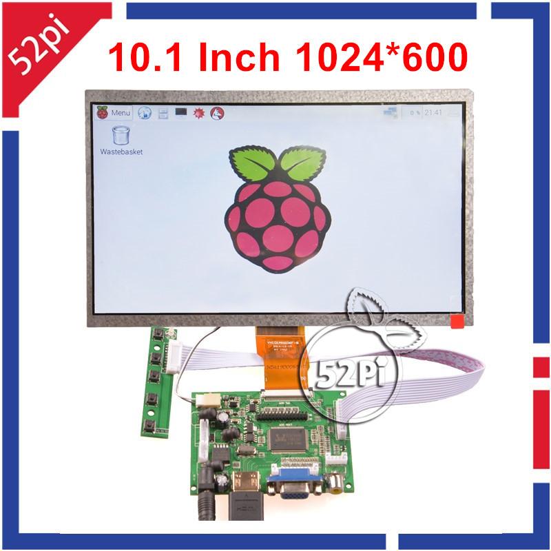 Prix pour 10.1 Pouce 1024*600 Écran lcd HDMI Moniteur TFT Écran (HDMI + VGA + 2AV) pour Framboise Pi 3/2 Modèle B/B +