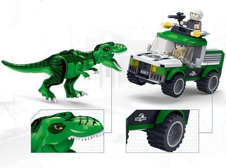 New Jurassic World T Rex Beat Back Building Blocks Toys Of Children