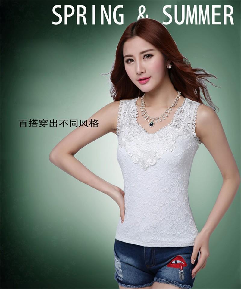 HTB1U8QwKVXXXXXGXFXXq6xXFXXXa - Plus Size Women Summer Sexy Blouse Shirt Elegant Sleeveless V Neck
