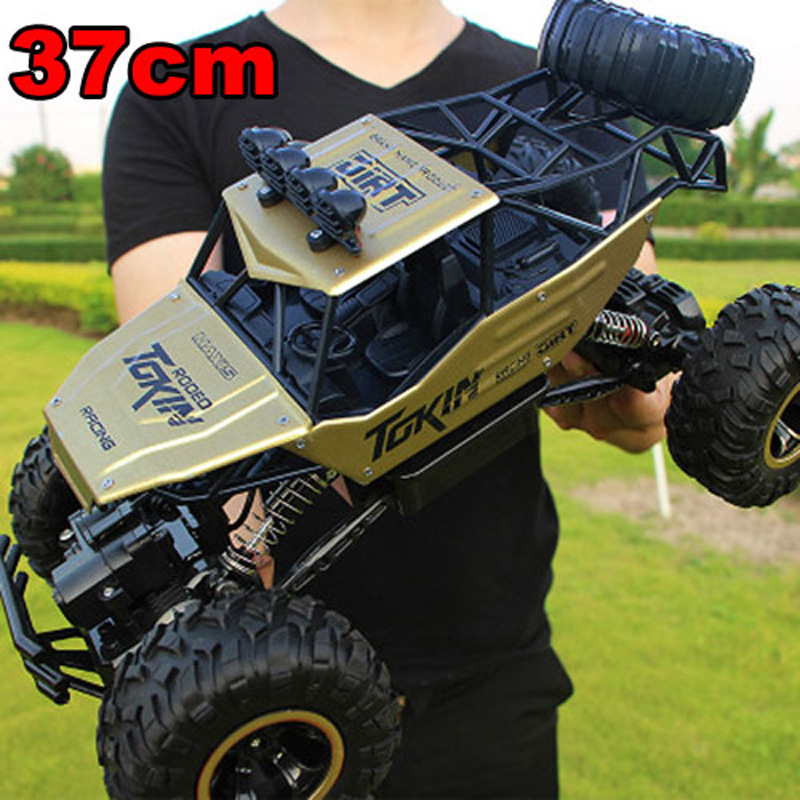 Large 37cm 1:12 RC Cars 4WD Radio Control RC Cars Toys 2017 High speed Trucks Off-Road RC Cars Toys for Children High Quality TL 34cm large 1 12 4wd rc cars updated version 2 4ghz radio control rc cars buggy 2018 high speed off road trucks toys for children