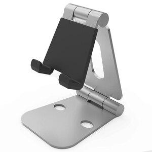 Image 5 - SeenDa Tablet Pieghevole Basamento In Alluminio Multi Angolo di Regolazione Supporto Da Tavolo Basamento Del Telefono Mobile Doppio Piegato In Metallo Stand Portatile