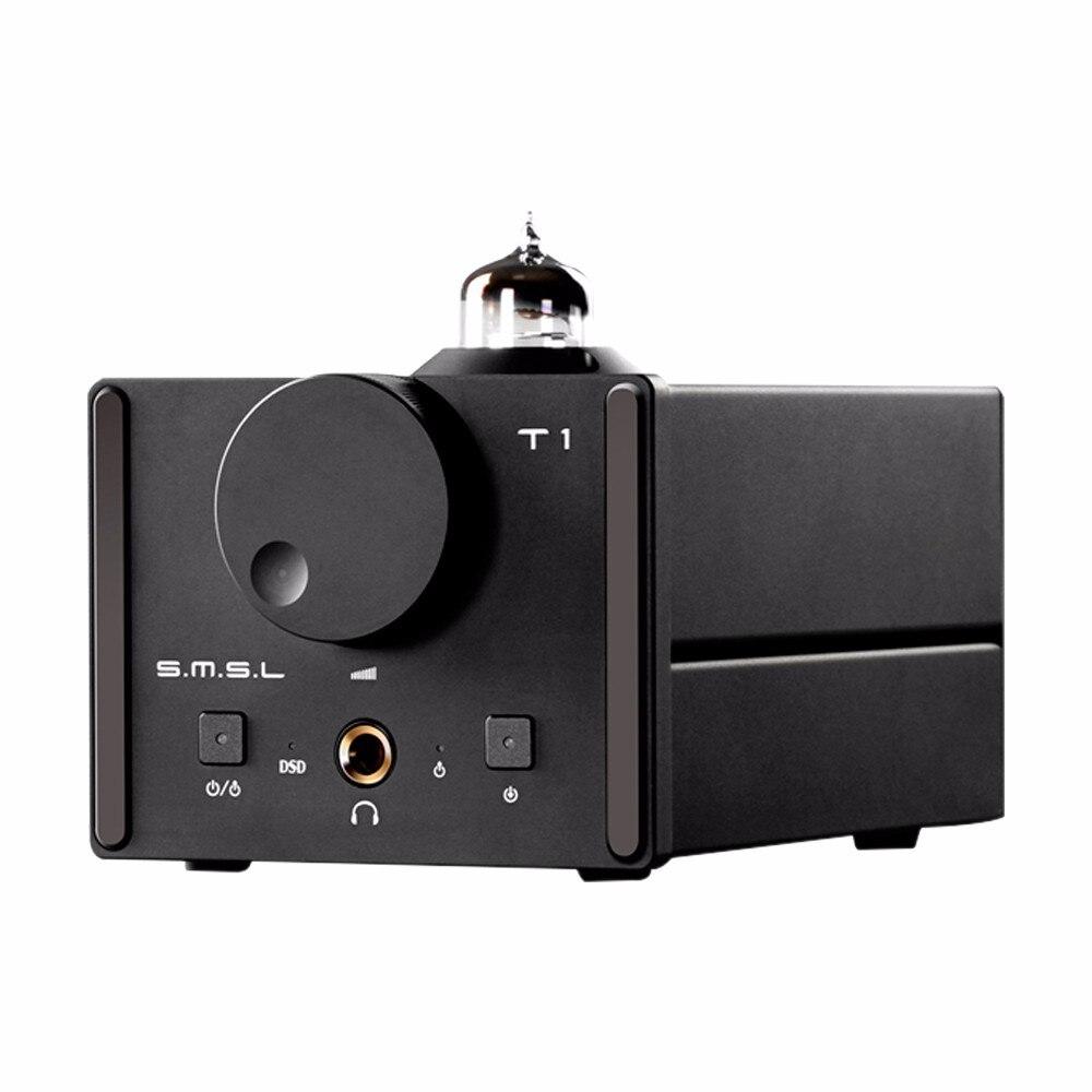2016 New SMSL T1 AK4490EQ+CM6632A DAC DSD512 Tube 384KHZ/32Bit OPTIC/Coaxial/XMOS/USB DAC Digital Tube Amp smsl sd 793ii dir9001 pcm1793 opa2134 coaxial optical mini dac headphone amp black color