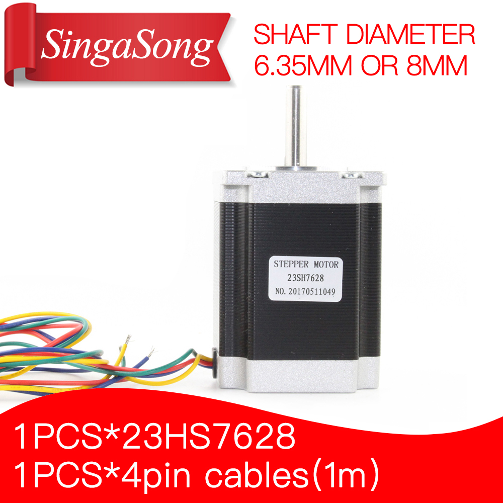 2 phase, 4-Leads 20Kgcm 76mm CNC Nema 23 Stepper Motor , 3D Printer 23hs7628 23hs8430.