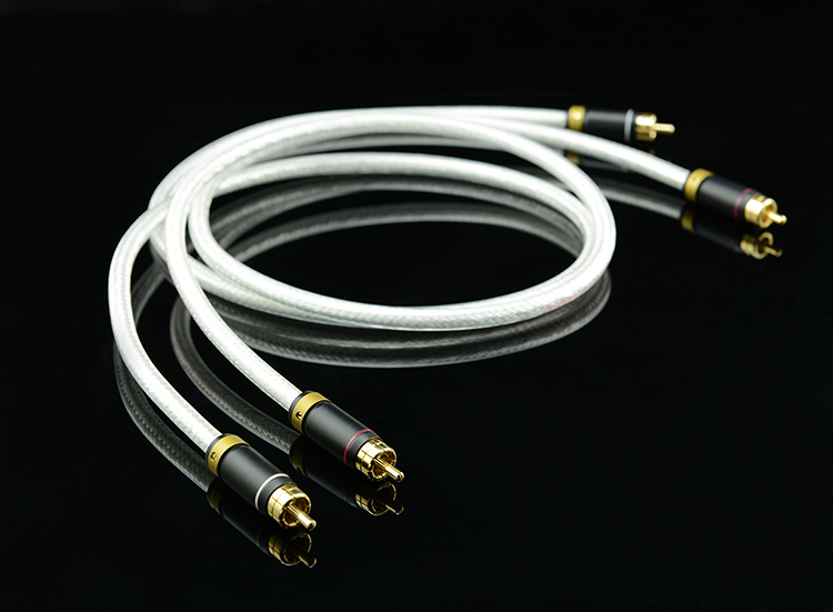 Câble Audio haut de gamme MPS M-4 2 RCA à 2 RCA 6N OFC Hi Fi 99.99997% 5U câble haut-parleur Subwoofer plaqué or Audiophile livraison gratuite