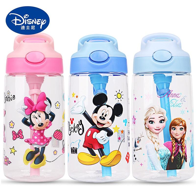 500ML Kids Water Feeding Bottle Sippy Cups Baby Portable Bottle Children Cartoon Minnie Mickey Eco-Friendly My Bottle Cup