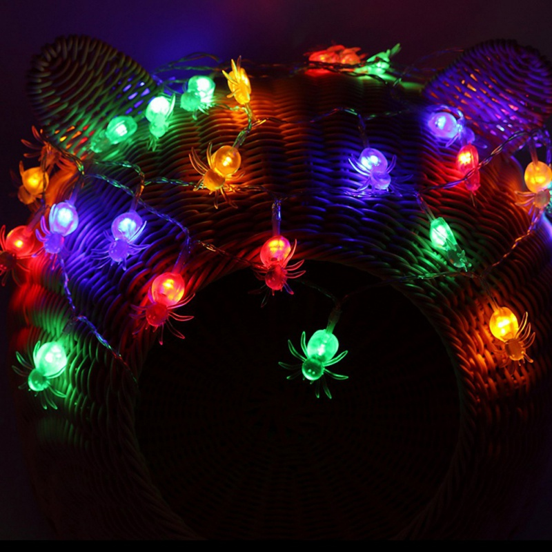 LED Spider Fairy String Light Lamp 10&20 Head Spider Strip Light Home Party Decor Halloween Christmas