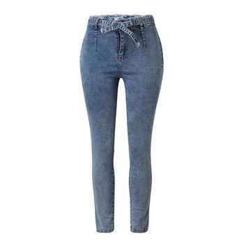 Moda nowe kobiety lato elastyczny przycisk Tassel luźny dżins dopasowane jeansy rurki Casual codzienne Vintage długie dżinsy rurki #4R09 tanie i dobre opinie MIARHB Pełnej długości Poliester Na co dzień Women Jeans L90509105135001 Zmiękczania Ołówek spodnie REGULAR light