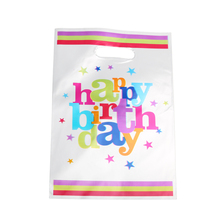 40pcs/lot Happy Birthday Gift Bags For Baby Party Plastic Loot Bag Children Shower Candy Decoration Accessory