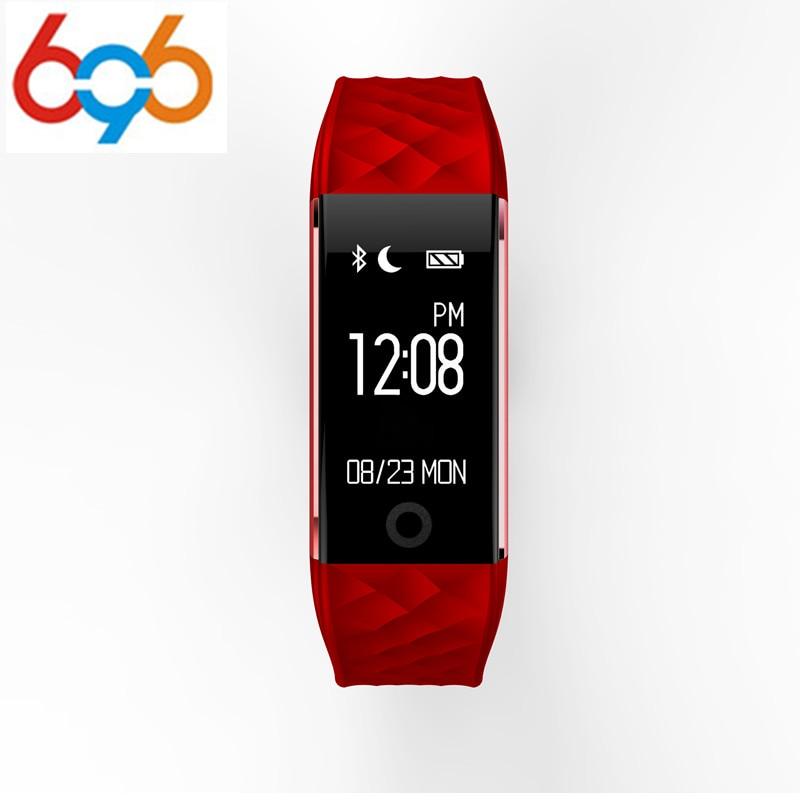 696 S2 Bluetooth Smart Band Wristband Heart Rate Monitor <font><b>IP67</b></font> Waterproof Smartband Bracelet For Android IOS <font><b>Phone</b></font>