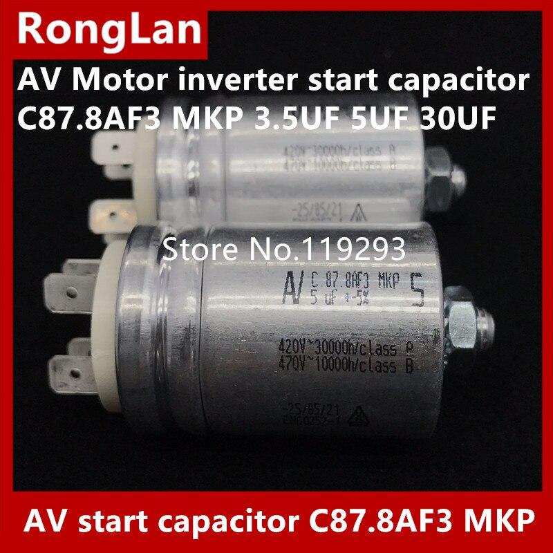 [BELLA] [New Original] Arcotronics AV Moteur onduleur condensateur de démarrage C87.8AF3 MKP 3.5 UF 5 UF 30 UF 5% 500 v