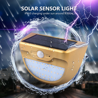 TSLEEN 1 2 4PCS Solar Powered Outdoor Light 37 LED Waterproof PIR Motion Sensor Lamp Built