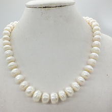 Пресноводный жемчуг, черный/белый жемчуг ожерелье, огромный барочный жемчуг 12-14 мм 18 дюймов
