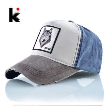 Unisex Baseball Cap Men Women Fashion Animals Embroidery Snapback Hat Spring Summer Cotton Washed denim Hip Hop Bone Casquette 1