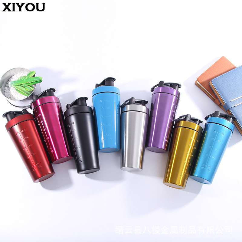 XIYOU Whey Protein Shaker Cup Protein Powder Shake Bottle Mixing Bottle Sports Fitness Kettle Protein Shaker Sports Water Bottle ...