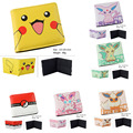2017 Cartoon Wallets Pokemon Pikachu Bulbasaur Ivysaur Wallet Billfold Short PU Leather Purse Slim Money Bag Student Wallets