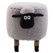 Store Promotion Lint Sofa Shoe Stool Pouf Chair Ottoman Bean Bag Kid Toy Storage Footstool Solid Wood Nordic Home Deco Furniture(China)