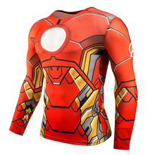 Marvel Iron Man T-Shirt Homme Dry Fit Long Sleeve Compression Shirt Avengers Endgame 3D Workout Gym Bodybuilding Clothes