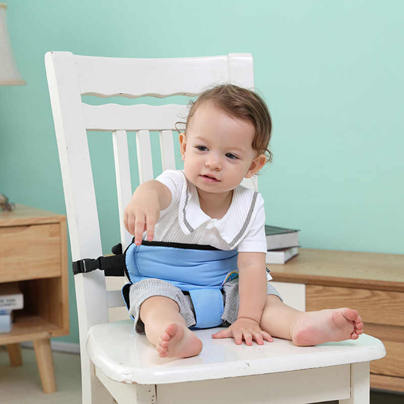 Portable Baby Chair Seat Belt Dining Feeding Chair Safety Belt