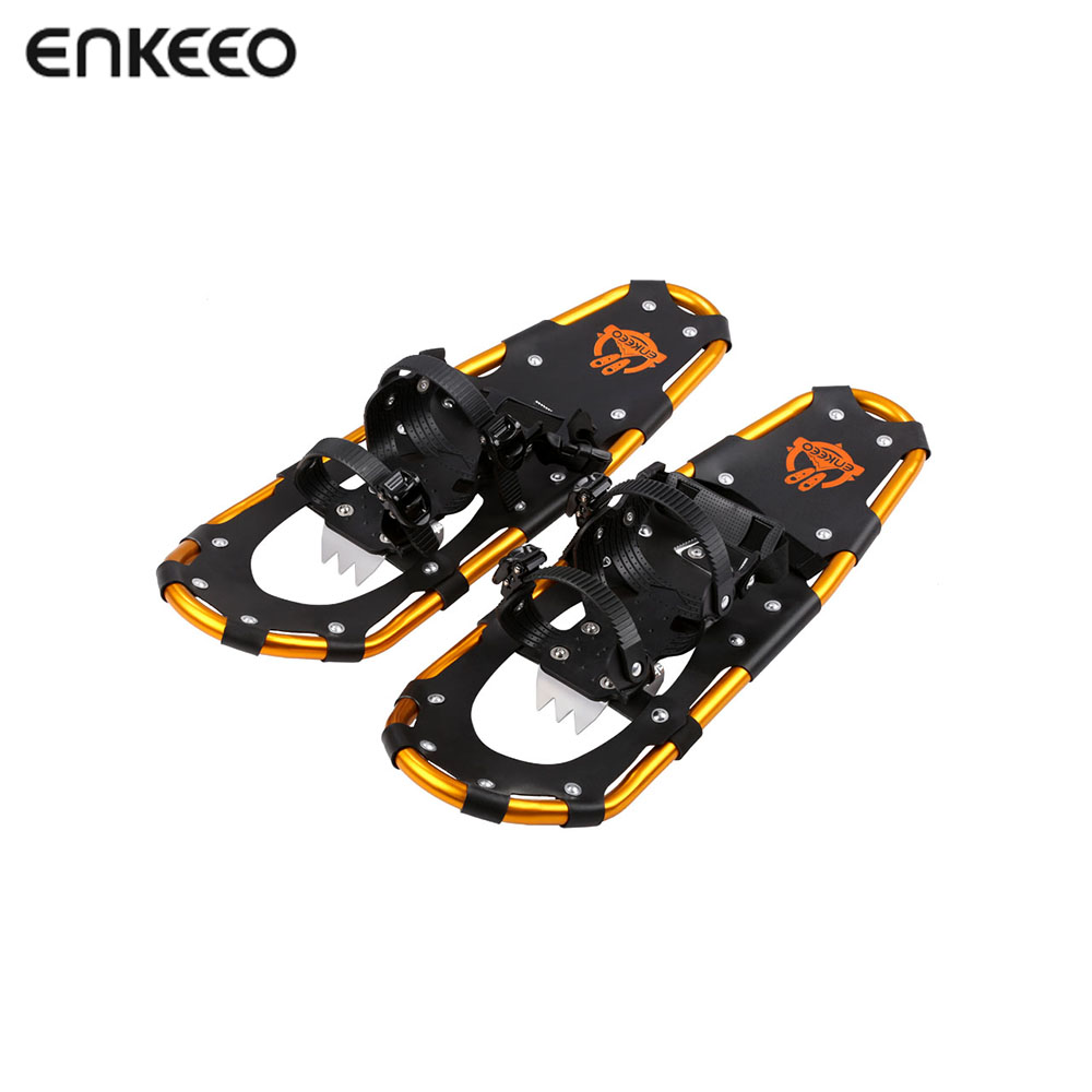 Enkeeo Aluminum Alloy Terrain Snowshoes Kit Adjustable Retchet Bindings 18/21/25/30 Inches crampons Camping Walking Snow Shoes inov 8 сумка all terrain kitbag black