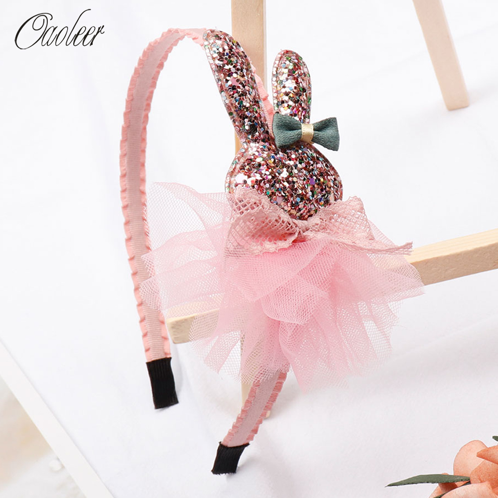 Oaoleer Hair Accessories Hairbands Girls Hair Bands Organza Bowknot With Teeth Bands Girls Flower Headband Hair Accessories
