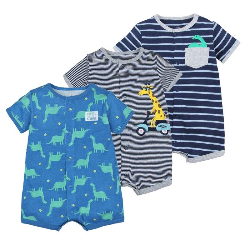 2019 Verão meninos roupas de bebê de algodão Macacão de manga Curta Roupas Menino para o Bebê Menino ternos Do Corpo, 0-24M crianças macacão