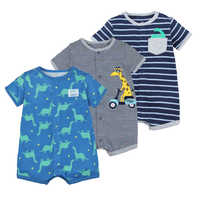 2019 verão bebê meninos roupas de algodão macacão manga curta roupas menino para bebê menino corpo ternos, 0-24 m crianças macacão