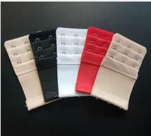 Sutiã de extensão em 2 peças/3 linhas, 3 ganchos de aço inoxidável, fivela de extensão, ajustável, sutiã traseiro para mulheres fivela com fivela