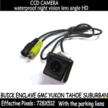 Hd CCD retrovisor del coche cámara de visión nocturna cámara de visión trasera de reserva de marcha atrás para BUICK ENCLAVE GMC YUKON TAHOE SUBURBAN
