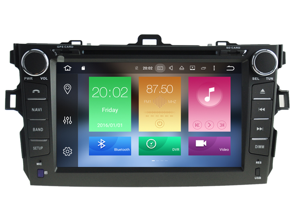Android 6 0 CAR Audio DVD player FOR TOYOTA COROLLA 2008 gps Multimedia head device unit