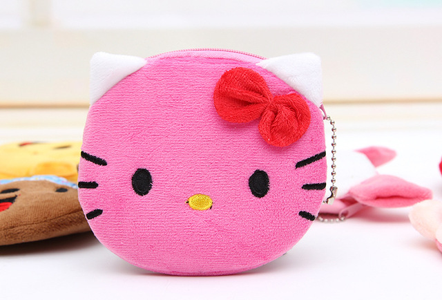24pcs Rose Red Hello kitty coin purses Women's coin purses Women's wallet Children's purses
