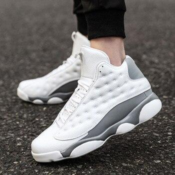 08f7a231 Большой размер 45 Ретро Bakset Homme 2018 новая брендовая мужская Баскетбольная  обувь для кроссовок Мужская Спортивная обувь для фитнеса Мужская Об..