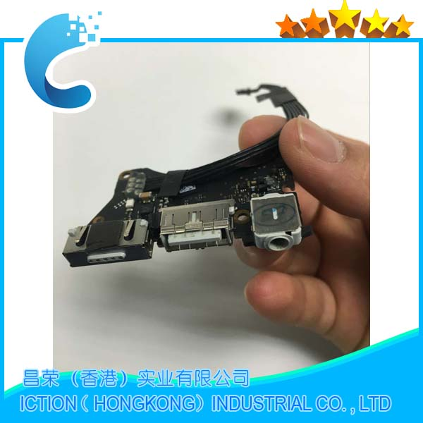 Genuine 923-0118 820-3213-A DC Power Audio Jack USB I/O Board for Apple MacBook Air 11 A1465 Mid 2012 Year MD223 MD224 EMC2558