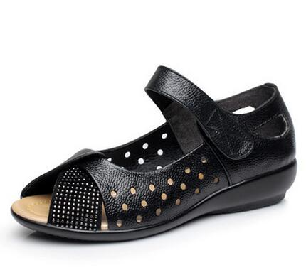 c72913659aa37 New 2019 summer shoes women genuine leather casual wedges shoes sandals  women s pumps women sandals for. sku  32807191811