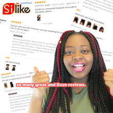 Silike 12″ 18″ 22″ Crochet Box Braids Synthetic Hair 12 Roots Pure Colors Crochet Braiding Hair Extensions 90-100 g 1 pack/lot