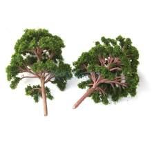 10 adet Banyan ağaçları Model tren manzara manzara ölçeği 1:75