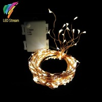 High Quality 224 LEDs Rattan Decoration String Lights 3AA Battery Outdoor Waterproof Copper Wire Timer String