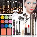 New Women Value Pack Makeup Set Gift Gel Eye Liner Pen Eyebrow Pencil Sexy Lipstick Eye shadow tray Mascara Tool Kit