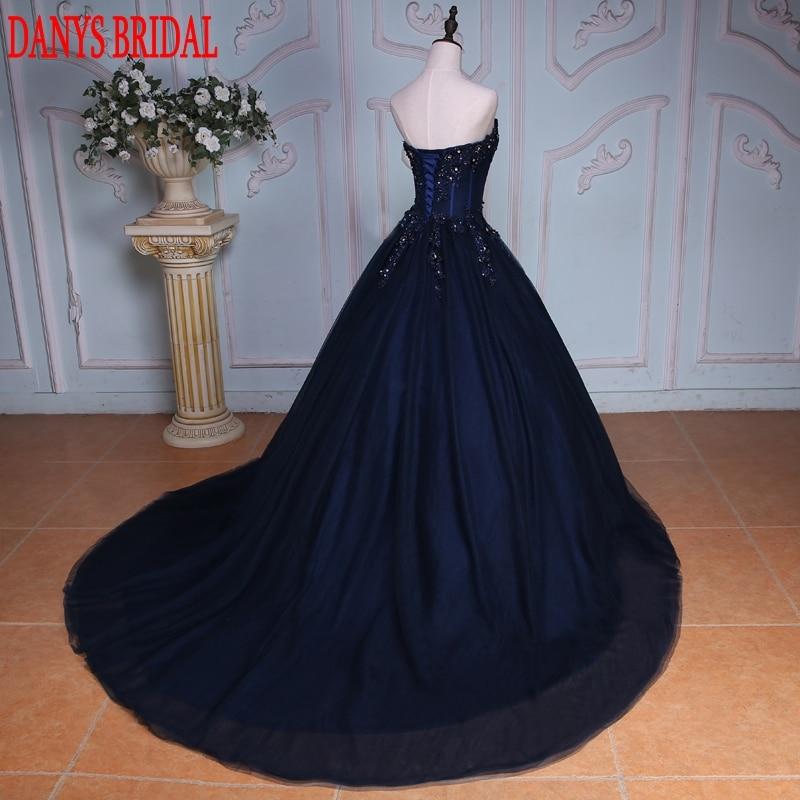 Mornarsko plava haljina s loptom Princess Quinceanera Haljine - Haljina za posebne prigode - Foto 3